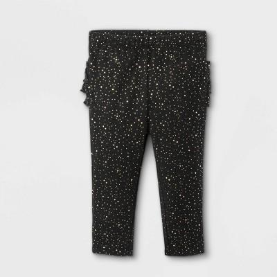 Baby Girls' Ruffle Bum Leggings - Cat & Jack™ Black 0-3M
