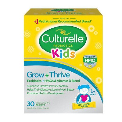 Culturelle Kids Grow + Thrive Probiotics + HMO + Vitamin D Blend Packs - 30ct