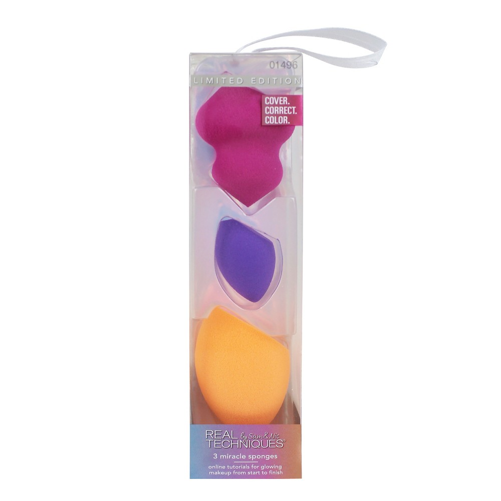Real Techniques Miracle Sponges - 3pc, Multi-Colored