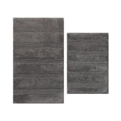 2pc Manchester Solid Bath Rug Dark Gray - ED by Ellen DeGeneres