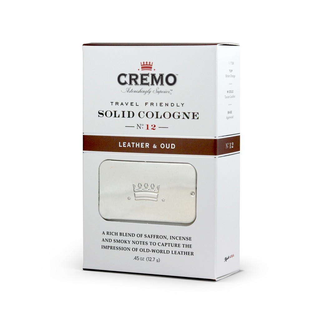 Image of Cremo Leather & Oud Men's Solid Cologne - .45oz