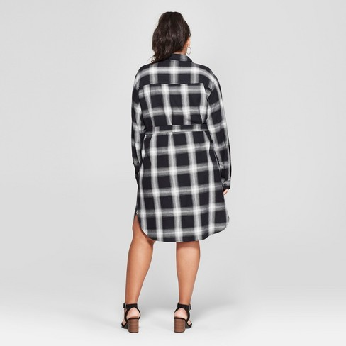 79b3499e8da Women s Plus Size Plaid Shirt Dress - Universal...   Target
