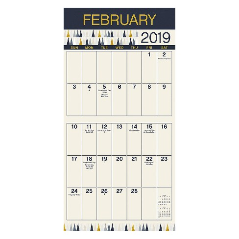 2019 Wall Calendar Large Print Trends International Target