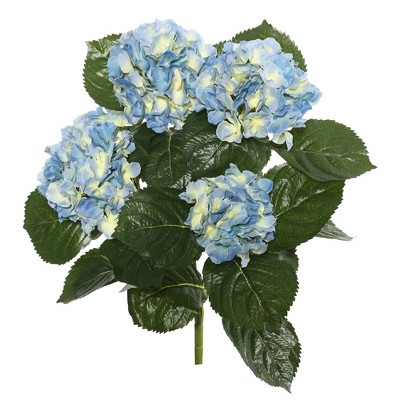 "Artificial Hydrangea Bush (17.5"") Blue - Vickerman"