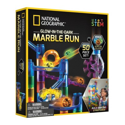 National Geographic Glow-in-the-Dark Marble Run - 50pc