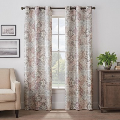 Martina Medallion Absolute Zero 100% Blackout Curtain Panel - Eclipse