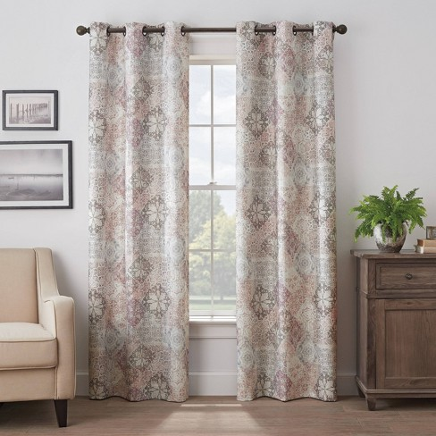 Martina Medallion Absolute Zero 100% Blackout Curtain Panel - Eclipse - image 1 of 3