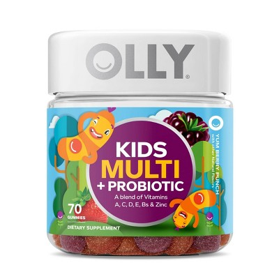 OLLY Kid's Multi + Probiotic Vitamin Gummies - Berry Punch