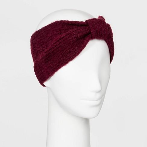 Women's Rib Stitch Knit Headband - A New Day™ - image 1 of 1