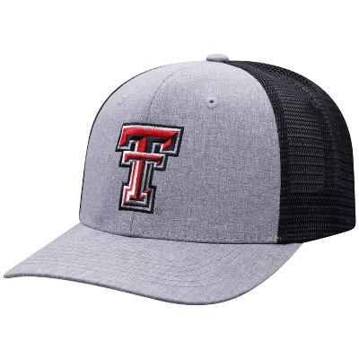 NCAA Texas Tech Red Raiders Men's Gray Chambray with Hard Mesh Snapback Hat