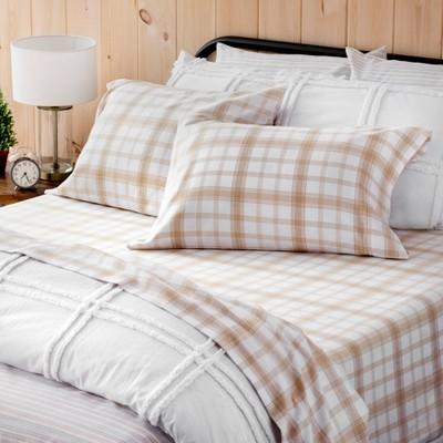 Durham Plaid Flannel Sheet Set - Martha Stewart