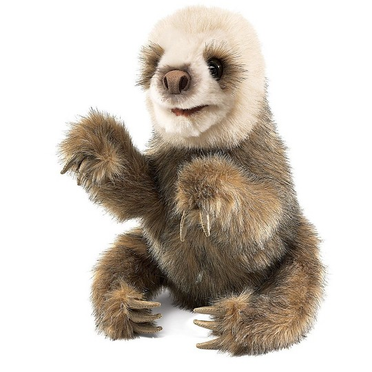 Folkmanis Baby Sloth Hand Puppet image number null