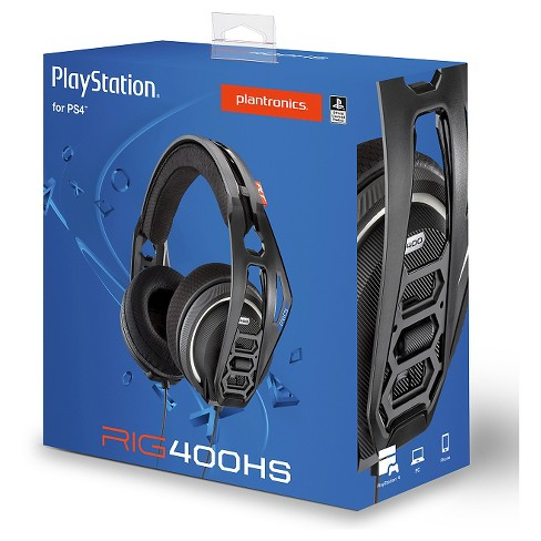 Plantronics RIG 400HS Stereo Gaming Headset for PlayStation 4/Xbox One/PC