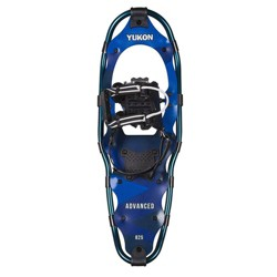 "Yukon Charlie's Advanced 8"" x 25"" Durable Backcountry Hiking Snowshoes, Blue"