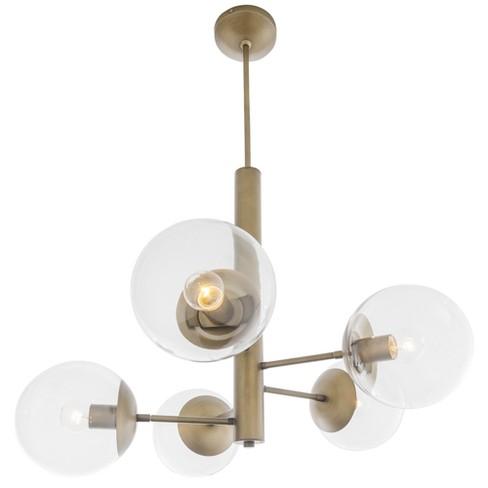 Mid Century 5 Light Chandelier Antique Brass - Varaluz - image 1 of 4