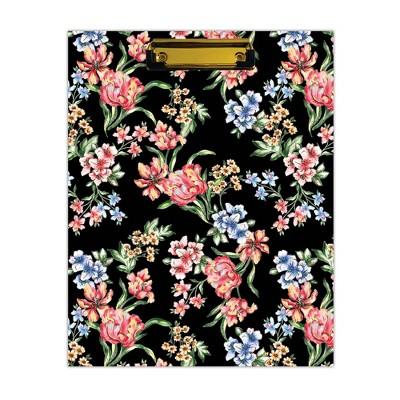 Day Designer Clipfolio with Writing Pad Tulip Garden Black - Blue Sky