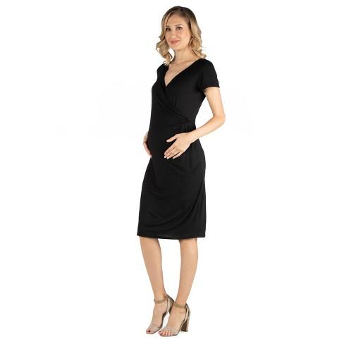 24seven Comfort Apparel Women's Maternity Wrap Dress - image 1 of 3
