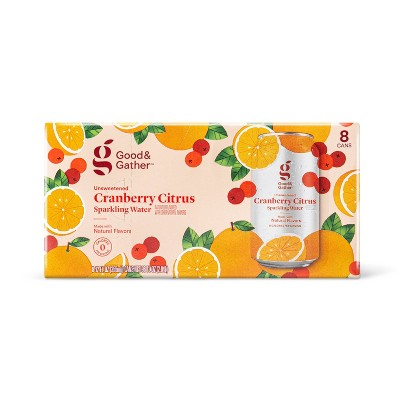 Cranberry Citrus Sparkling Water - 8pk/12 fl oz Cans - Good & Gather™