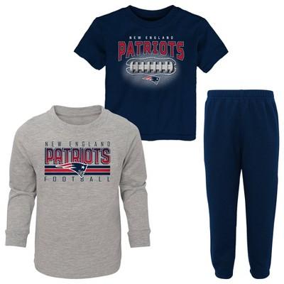 NFL New England Patriots Toddler Boys' Gametime Fun T-Shirt & Pants Set 3pk
