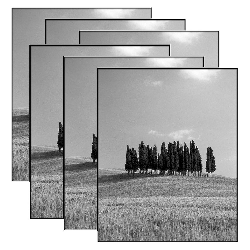Set of 6 Format Frames - Black 8x10 This set of picture frames is an ideal choice for your home. Format frames feature a thin piece of plastic for the edges, so the frame seems to disappear and the picture is all you see. The six frames allow vertical or horizontal display. Size: 8x10. Color: Black. Age Group: Adult.