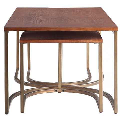 1d56cce731 Lincoln Nesting Tables Deco - Walnut (Set Of 3) - Haven Home : Target