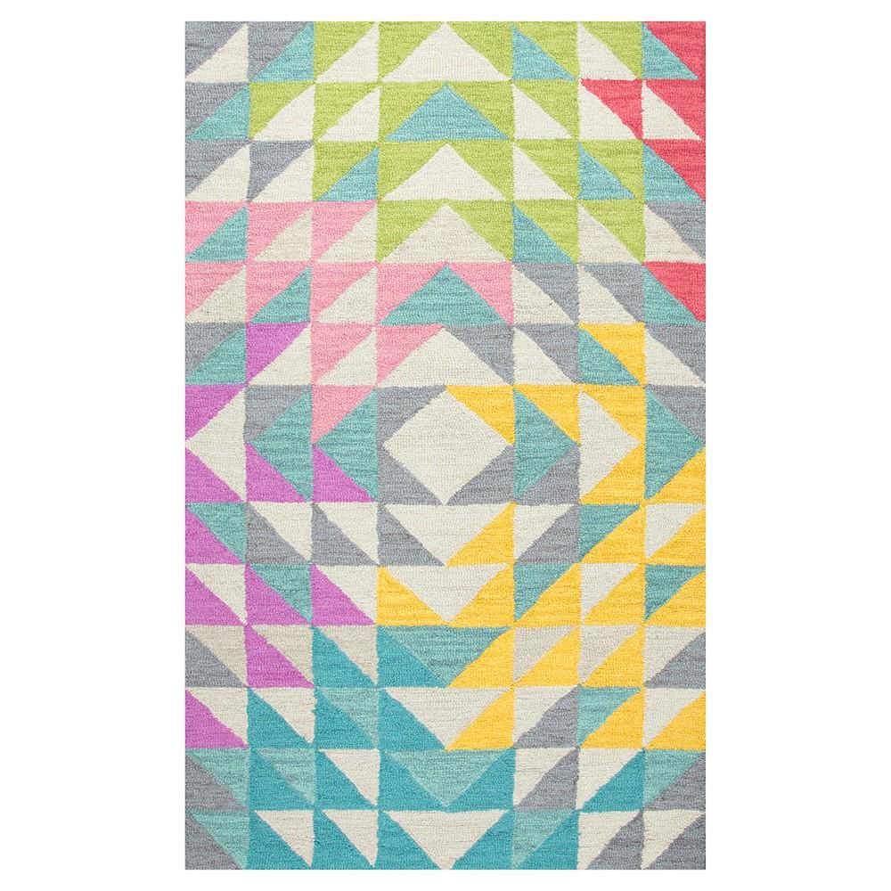 Triangle Geo Area Rug (5'x7') - Rizzy Home, Multi-Colored