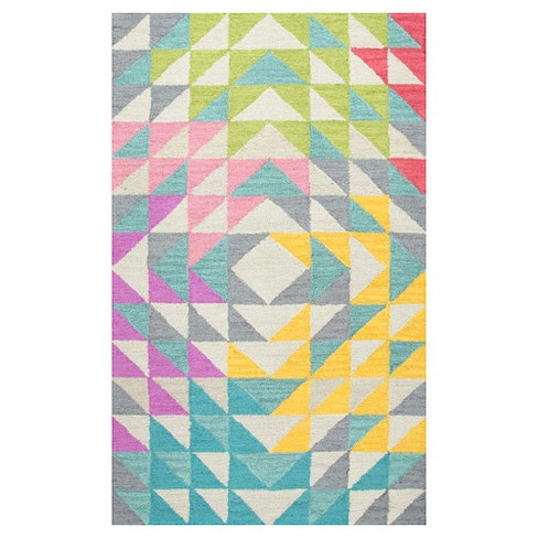Triangle Geo Area Rug (5'x7') - Rizzy Home - image 1 of 3