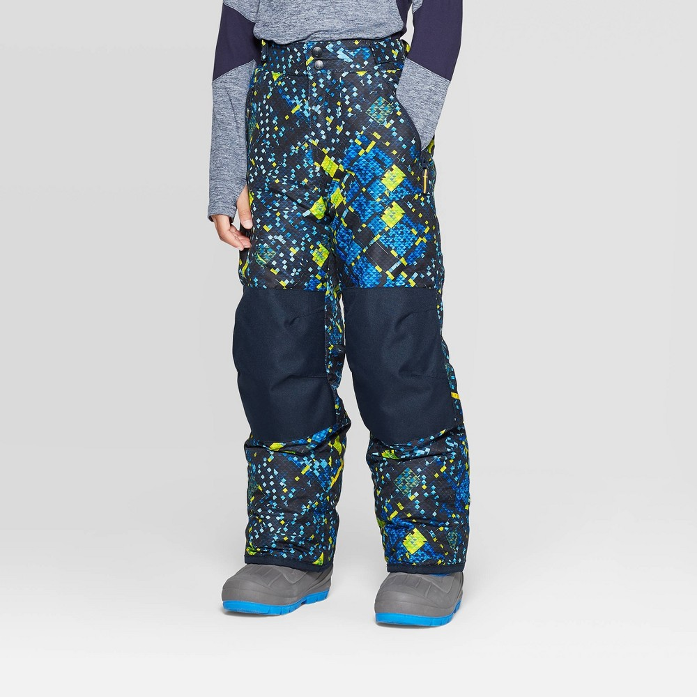 Image of Boys' Camo Print Snow Pants - C9 Champion Navy L, Boy's, Size: Large, Blue