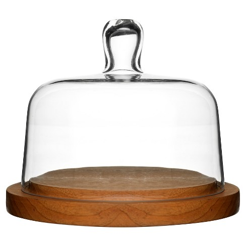 Sagaform® Oval Oak Round Cheese Dome with Glass Lid - image 1 of 1