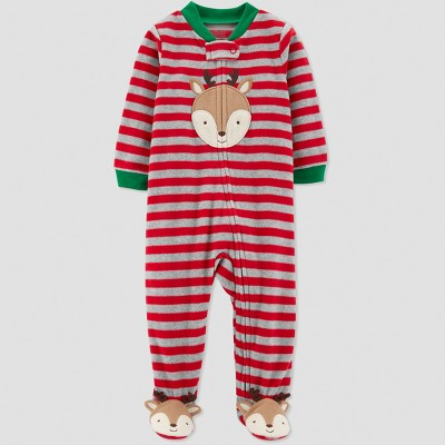 Baby Boys' Reindeer Microfleece Sleep 'N Play - Just One You® made by carter's Red Newborn