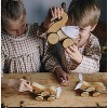 Kinderfeets Kids Rolling Bamboo Push and Pull Animal Toy for Toddlers and Children with Pull String, Swan - image 4 of 4