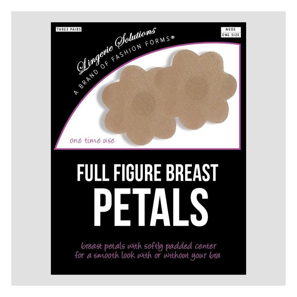 Fashion Forms Women's Full Figure Breast Petals 3 pk - Nude One Size