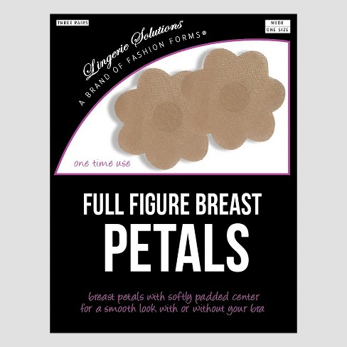 Fashion Forms Women's Full Figure Breast Petals 3 pk - Nude One Size - image 1 of 3
