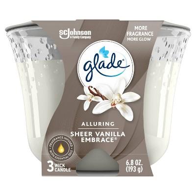 Glade Sheer Vanilla Embrace Candle - 6.8oz