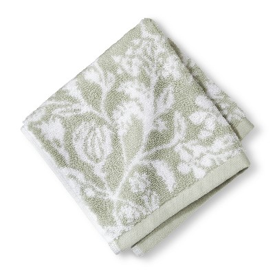 Washcloth Performance Texture Bath Towels And Washcloths Forgotten Sage - Threshold™