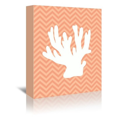 Americanflat Sea Chevron 1 By Samantha Ranlet Wrapped Canvas Target