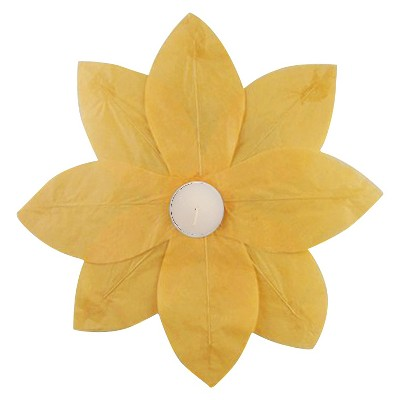 6ct Floating Lotus Paper Lantern Yellow