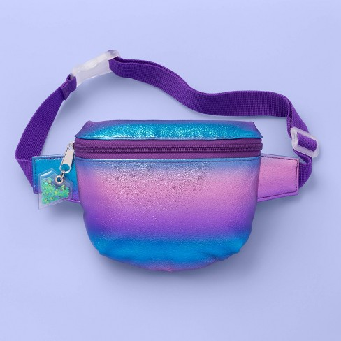 Girls' Multi Shine Fanny Pack - More Than Magic™ Purple Ombre - image 1 of 2