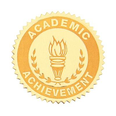 Hammond & Stephens Academic Achievement Gold Foil Embossed Seal, pk of 54