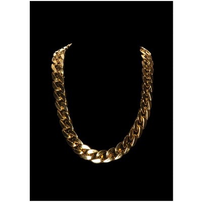 Underwraps Gold 90s Chain Thick Necklace Costume Jewelry