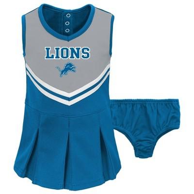 NFL Detroit Lions Toddler Girls' In the Spirit Cheer Set