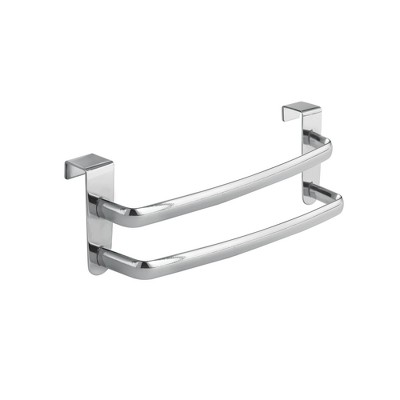 InterDesign Axis Over-the-Cabinet Double Towel Bar 9  Chrome