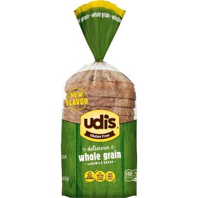 Udi's Gluten Free Whole Grain Frozen Bread - 12oz