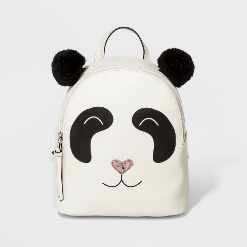T-Shirt & Jeans Panda Backpack - White - image 1 of 4