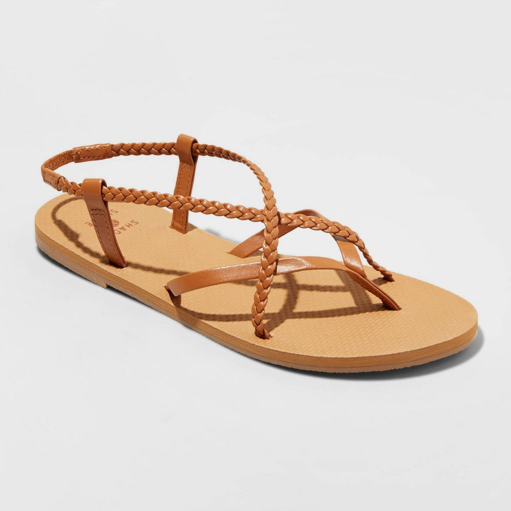 Women 39 S Cami Braided Thong Sandals Shade 38 Shore 8482 Cognac 10