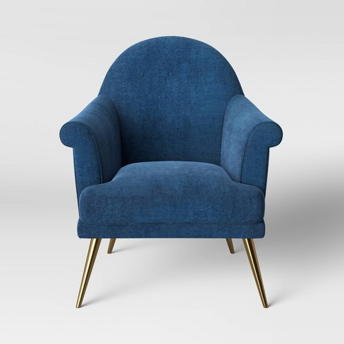 Myna Tufted Arm Chair with Brass Legs - Opalhouse™ - image 1 of 4