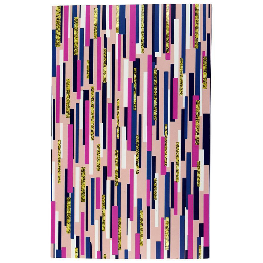 Image of Lined Journal Party Time Perfectbound UV Spot Accent Multi Color Streamers - Top Flight
