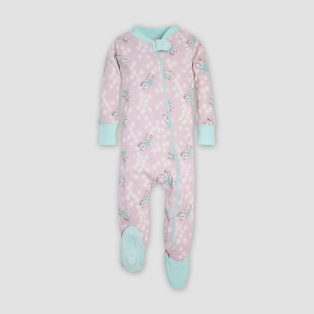 Burt's Bees Baby Baby Girls' Dragonfly Organic Cotton Sleeper - Lavender 18M, Purple