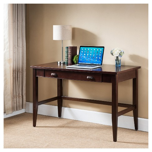 Laurent Writing Desk - Chocolate Cherry - Leick Home - image 1 of 4