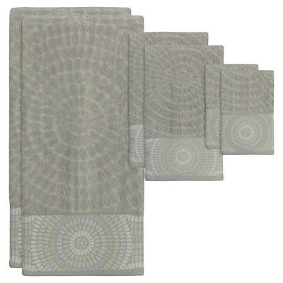Capri Bath Towel 6pc Set Gray Heather - Creative Bath®